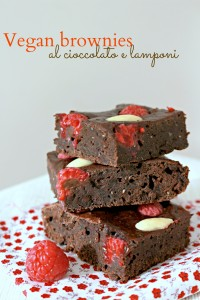 vegan brownies cioccolato e lamponi