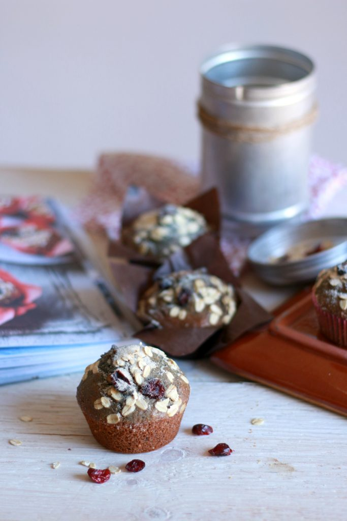 muffin integrali mirtilli avena