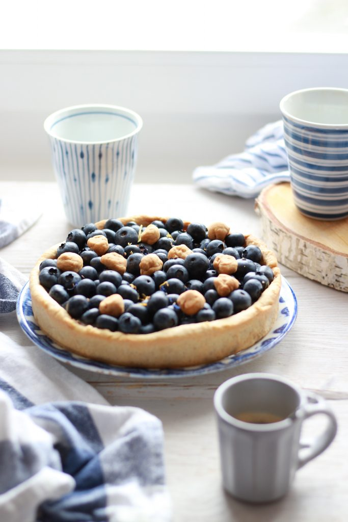 crostata di farro ai mirtilli