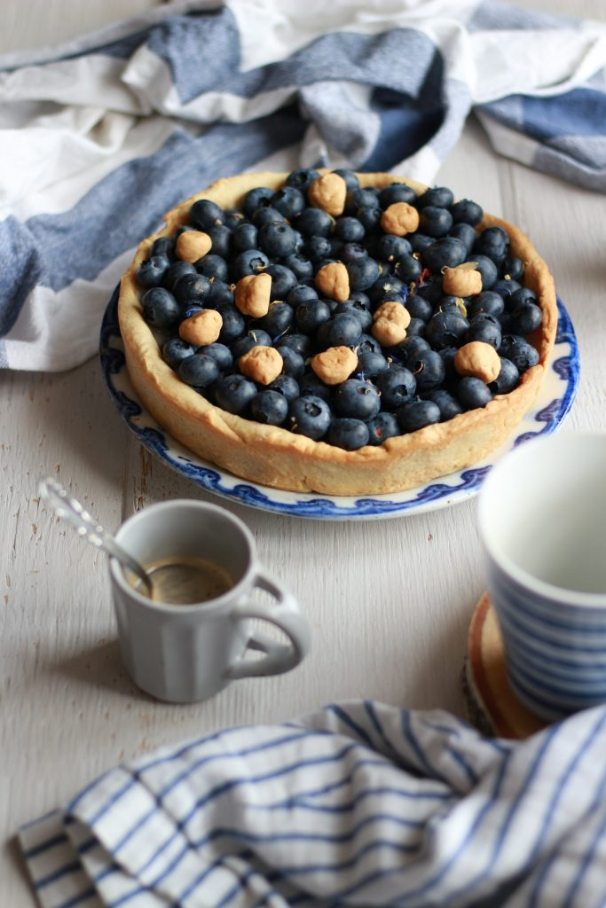 crostata di farro e mirtilli vegan