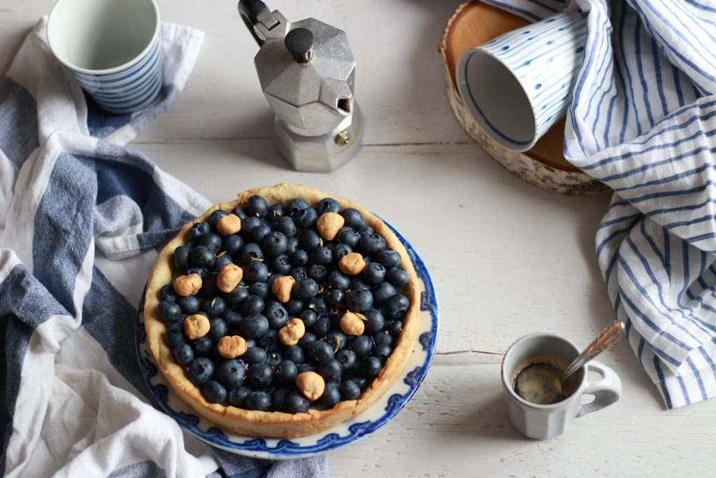 crostata vegan ai mirtilli