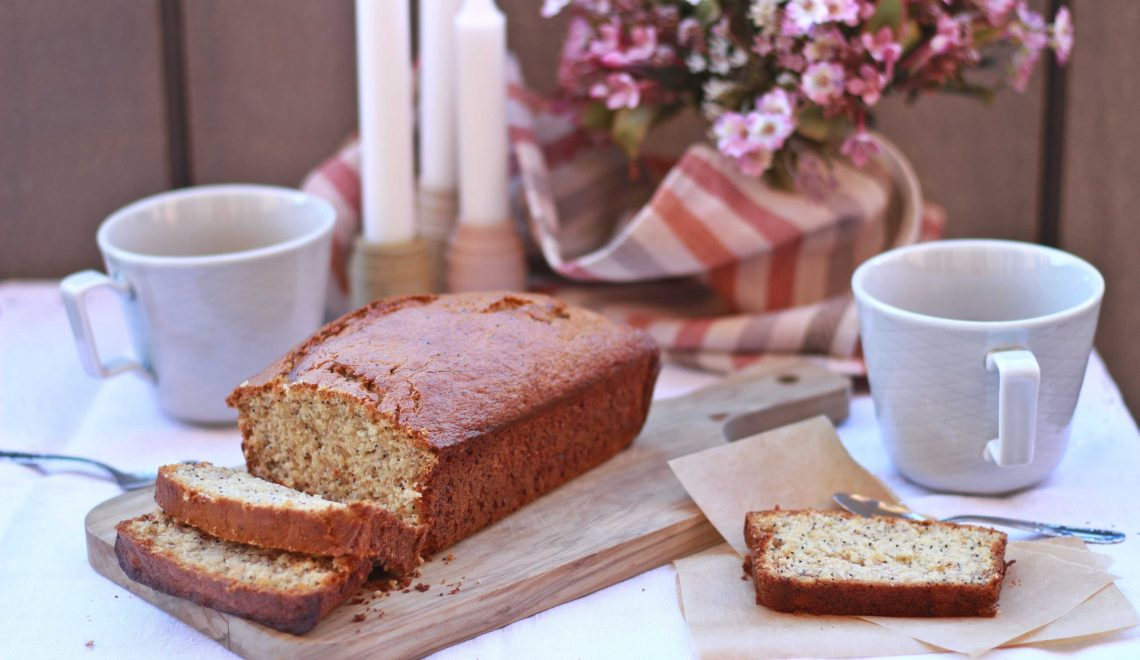 Banana bread con semi di papavero