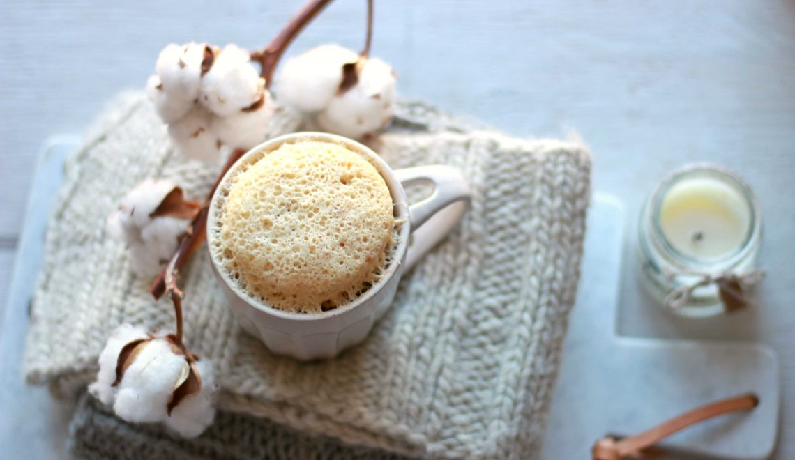 mug cake all'amaretto
